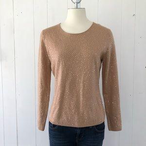 Peck & Peck Merino Wool Sequin Sweater